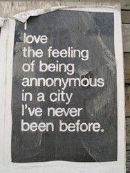 Anonymous travel