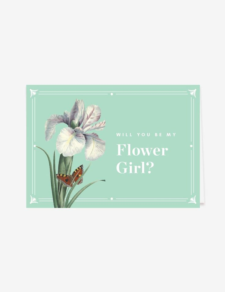 Hemlock Will You Be My Flower Girl Card by www.inatondesign.com