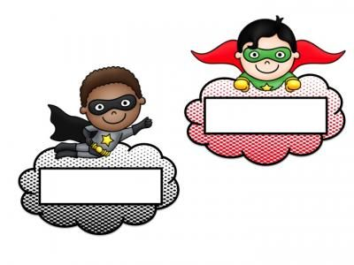 Superhero Name Tags - EDITABLE from House Fly Creations on TeachersNotebook.com -  (4 pages)  - Name tags for desks etc...