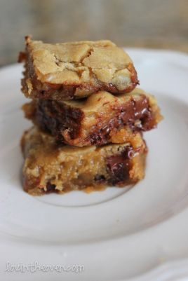 Blondies de chocolate