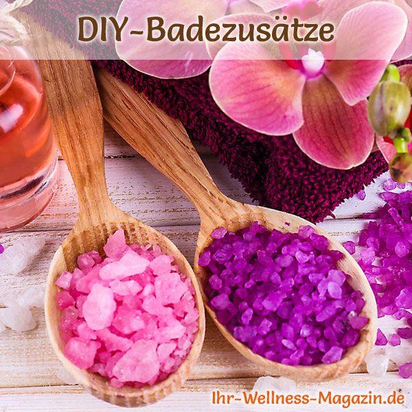 Badezusätze selber machen: Buntes Badesalz selbst herstellen - Anleitung: Salz und Milchpulver vermischen, Lebensmittelfarbe und Pflanzenöl aufträufeln ...