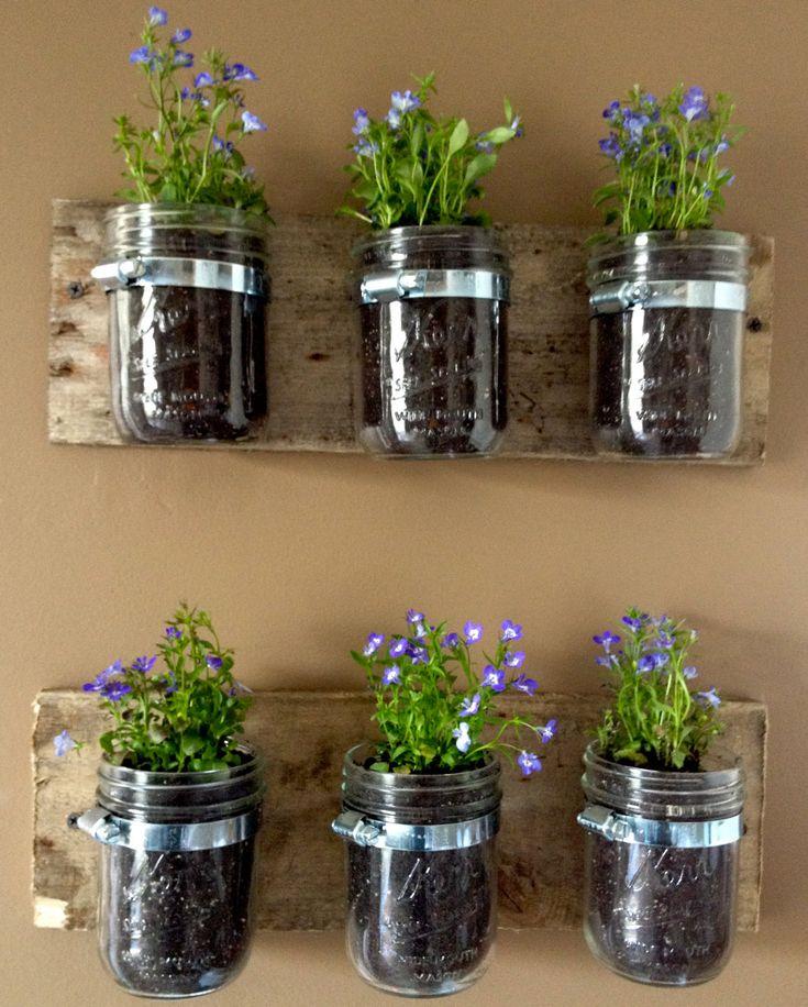Mason Jar Wall Garden