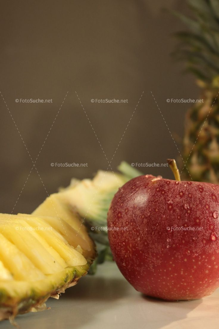 Obst Apfel Ananas