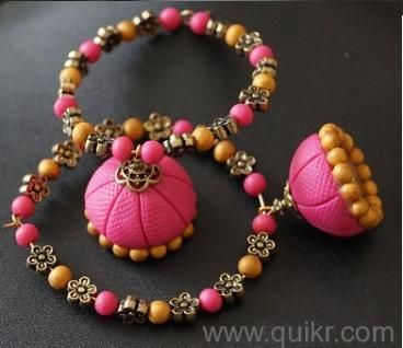 Polymer Clay jhumkas-Avishkar Collections - Chennai