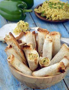 Cheesy Maggi Bread Rolls