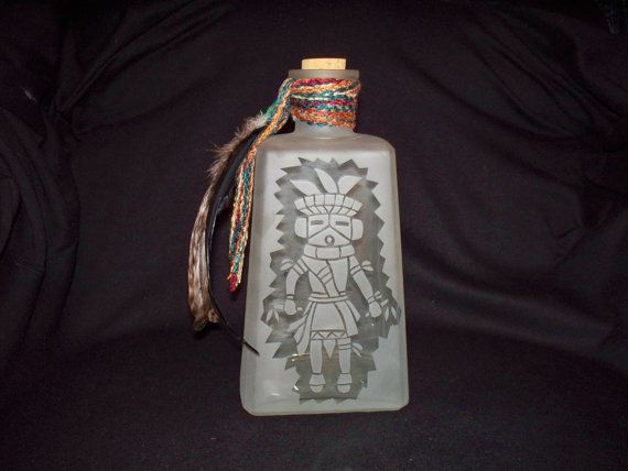 Southwestern Etched Glass by RiverbendEtchedGlass on Etsy