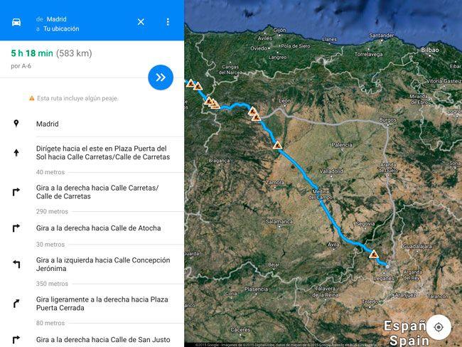 Cómo funciona Cómo llegar en la nueva versión de Google Maps para iPhone y iPad