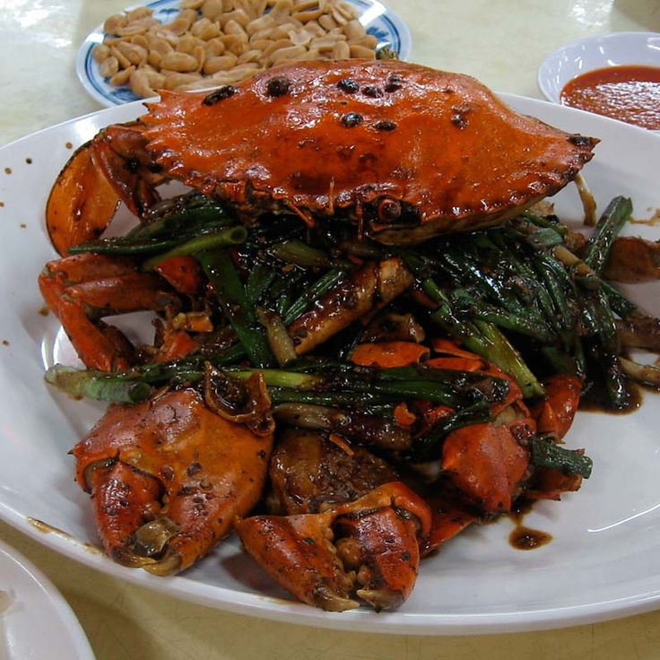 Black pepper crab. 'No Signboard', Singapore