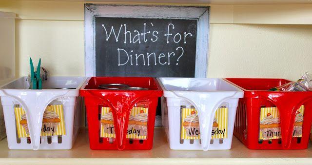 weekly menu bins