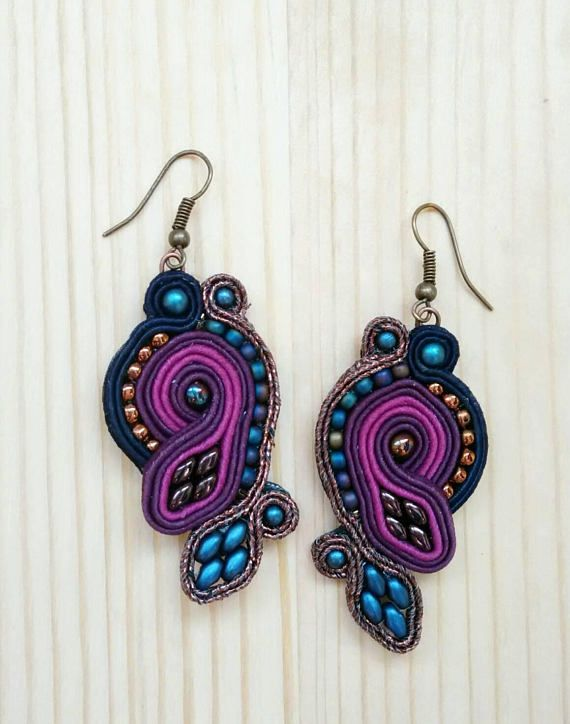 Check out this item in my Etsy shop https://www.etsy.com/listing/573587695/colorful-soutache-dangle-earrings-gift