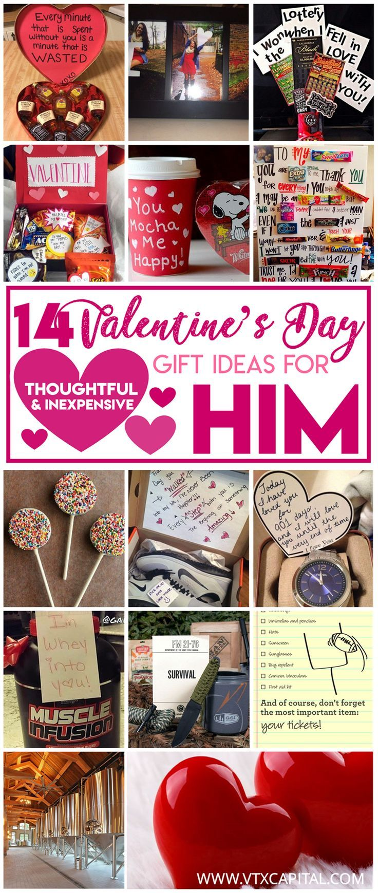 14 Cute Valentines Day Gifts for Him #diy #valentinesday #valentinesdaygiftideas
