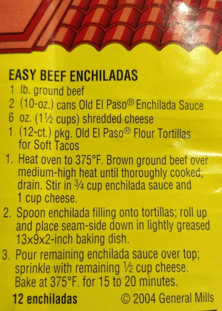 Old El Paso Beef Enchilada Recipe
