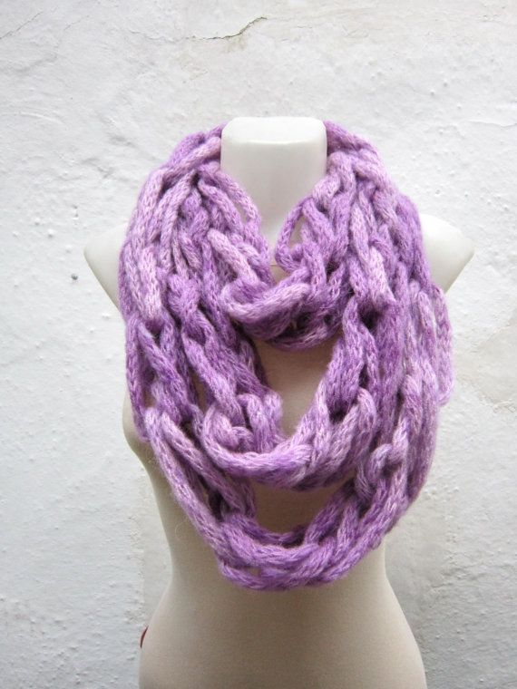 Scarf infinity  Necklace scarf  Colorful  Long  winter  by nurlu