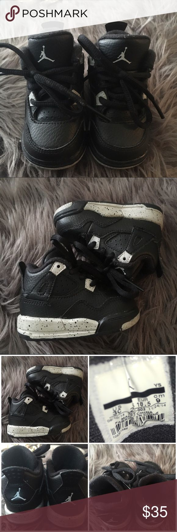 Baby Nike Air Jordan Retro 4 (Oreo) Baby Air Jordan Retro 4 sz 3C. Great condition. Listing for shoes only Jordan Shoes Sneakers
