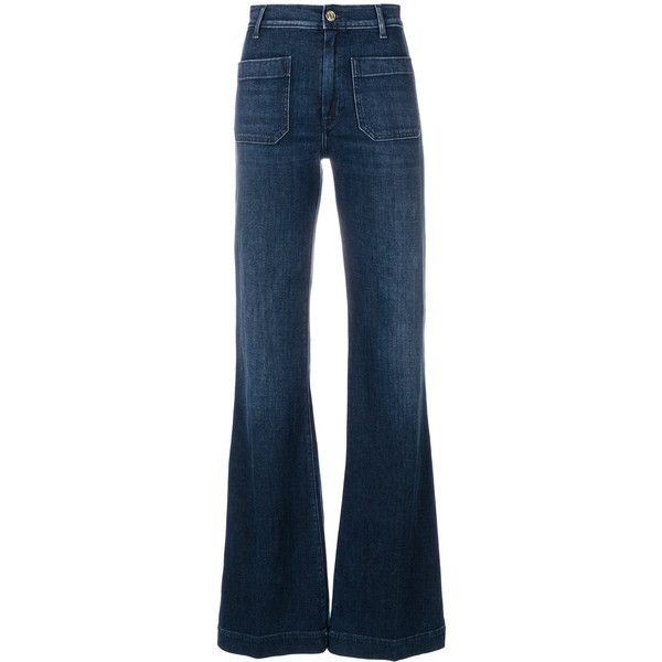 The Seafarer wide leg faded jeans (6.194.920 IDR) ❤ liked on Polyvore featuring jeans, pants, blue, faded blue jeans, wide leg blue jeans, blue jeans, faded jeans and wide leg jeans