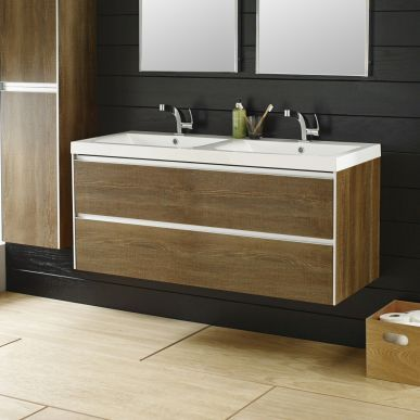 The 57 best vanity units images on pinterest bathroom furniture create a his and hers look to your bathroom with the hudson reed erin light oak furniturefurniture mozeypictures Image collections