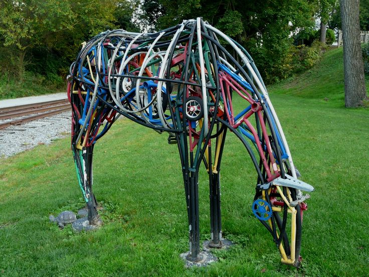 Horse Made From Bike Parts Hey I M All About Re