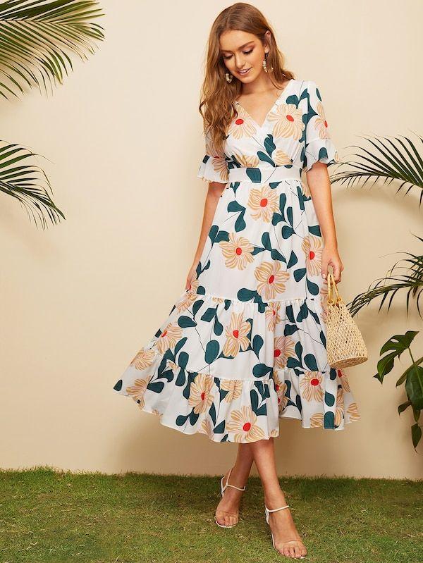461f8f02ba Wrap Floral Print Ruffle Hem Dress, 2019 | Best 20 Maxi Dresses ...
