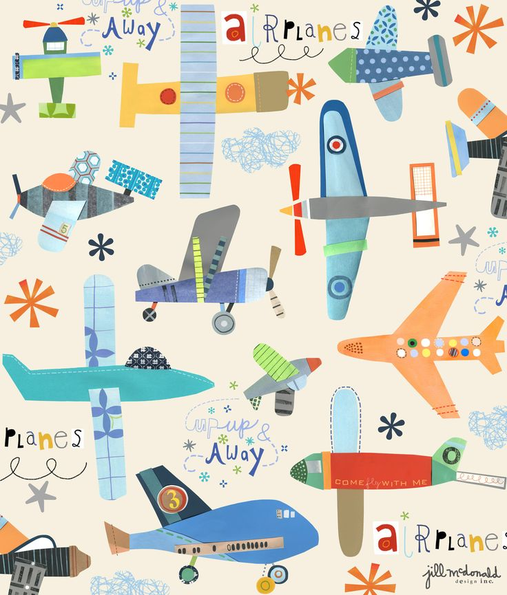 planes print by jill mcdonald design airplane illustrationillustration kidsdesign