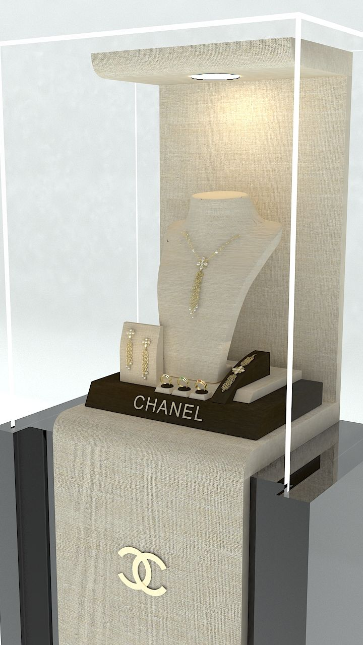 """Jewellery display booth """" Theodora """"Jewerly display booth , designed by yiannis petkos , Jewelry store design specialist."""