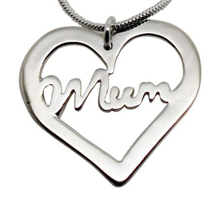 Mum Heart Sterling Silver Neckalce https://madeit.com.au/Main/Item?itemId=938383