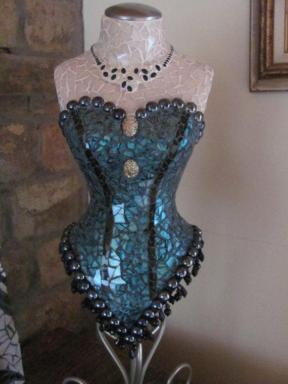 Items op Etsy die op Saloon Girl Mosaic Mannequin lijken