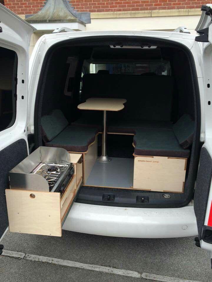 Caddy camper … | Umbau Renault Trafic | Camper van, Camper ...