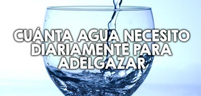 Cuánta agua necesito diariamente para adelgazar
