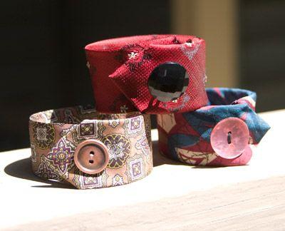 LindaEve has moved!: Tutorial –Necktie Cuff Bracelet