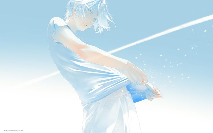 ベイビーブルー 白線と風 #art #illustration #manga #boy #blue