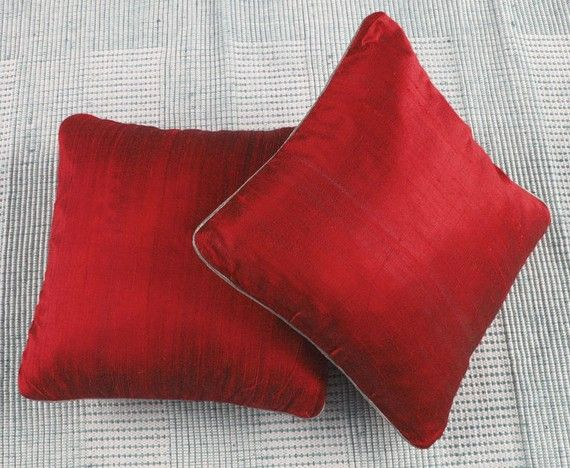 rich red throw inch decorative cushion covers custom made avialable in range of colours
