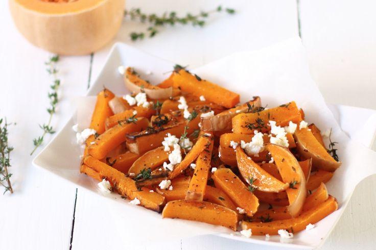 Pompoen frieten met tijm en feta, Frieten van pompoen, Gezonde friet recepten, Pompoen recepten, Pumpkin fries, Healthy fries, Healthy pumkpin dinner, Gezond een glutenvrije avondeten