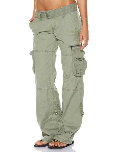 Popular Da Nang Womens Crop Capri Cargo Work Pants Long Shorts Pockets Army