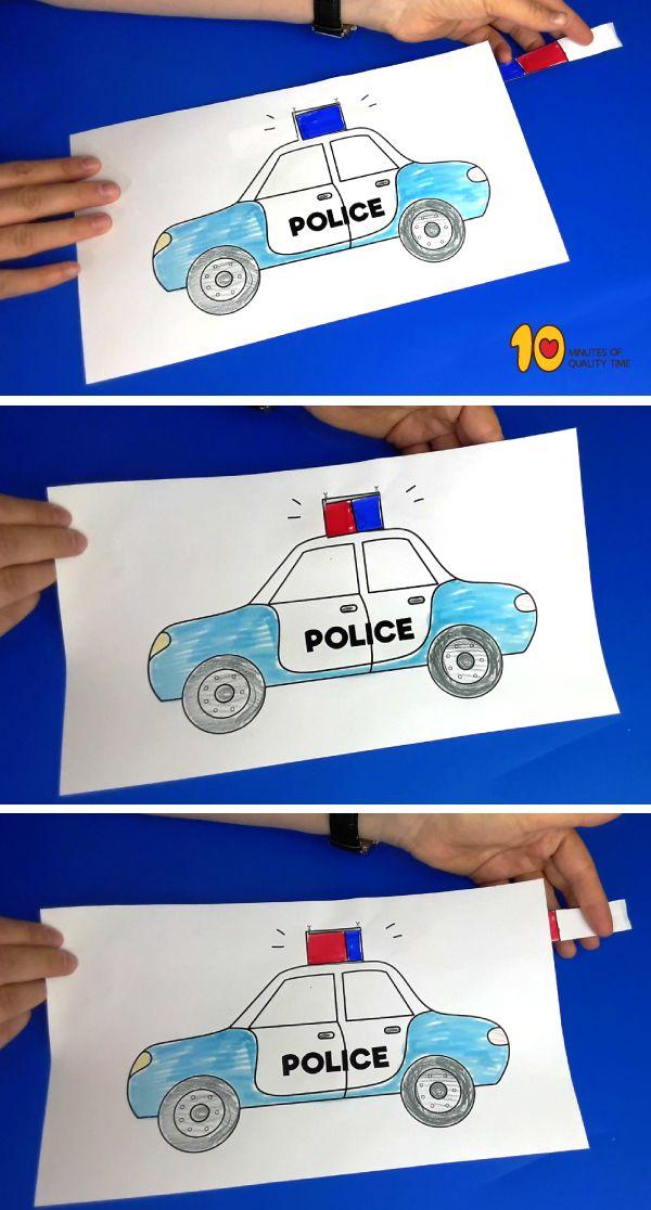 Polizeiwagen Papiermodelle