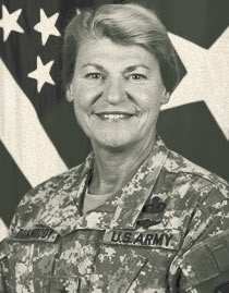 Gen. Ann E. Dunwoody became the first female four-star general in military history and also became the first female to lead a major Army command Nov. 14, 2008. On that date she was promoted in a Pentagon ceremony and later that day she took command of Army Materiel Command headquartered on Fort Belvoir, Va. Approximately 5 percent of general officers in the Army are women, which includes mobilized Army Reserve and Army National Guard general officers.