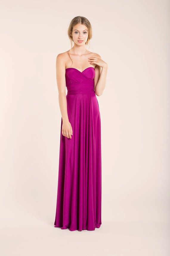 Radiant Orchid Dress orchid wedding maxi dress by mimetik on Etsy