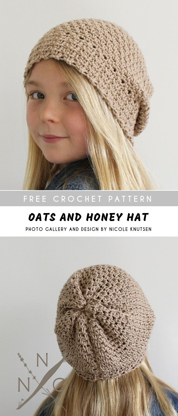 Oats & Honey Crochet Hat with Free Pattern | CROCHET HATS MESSY BUNS ...
