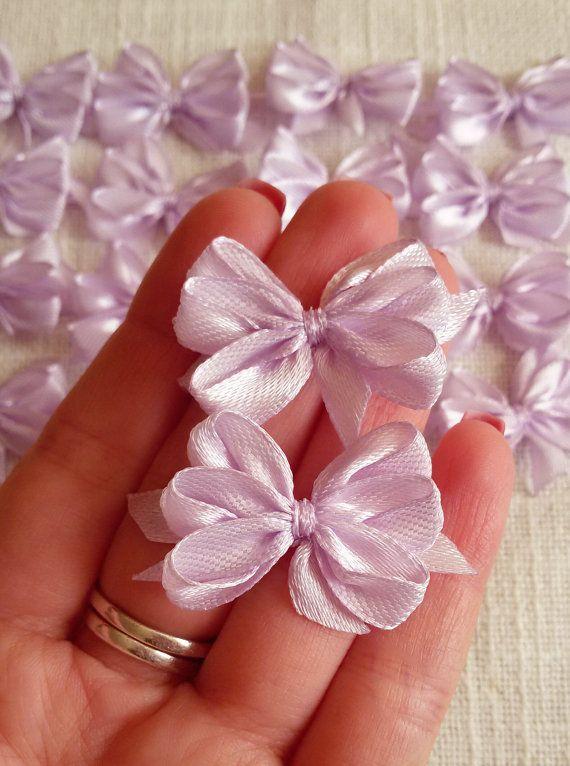 Gift bows light purple satin bows purple ribbon by Rocreanique