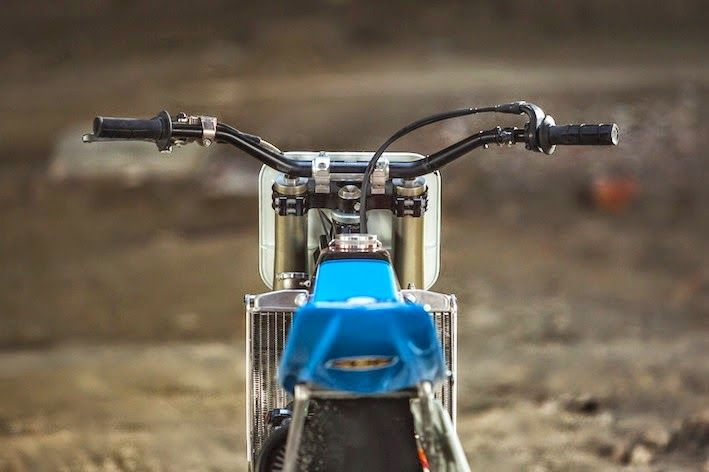 "KTM 450 Flat tracker KTM 450 Flat tracker by Lorenzo buratti. This KTM Flat tracker is based on a "" KTM 450 EXC"" enduro model (2005), KTM 450 Flat tracker modifications"