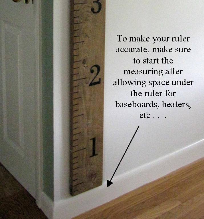 Great for charting kids heights, and you can take it with you as you move over the years