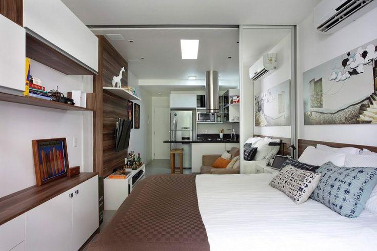 Példa kis lakás átalakítására és berendezésére 27m2-es hosszú téglalap területen