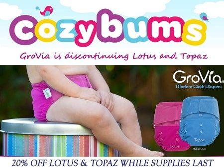 GroVia Lotus & Topaz  - Cloth Diapers Canada