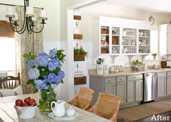 Painting Kitchen Cabinets And Doors Different Colors - Sarkem.net