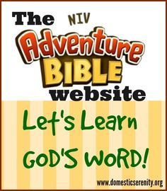 Introducing The Adventure Bible website -- a super interactive resource for teaching your children God's Word!