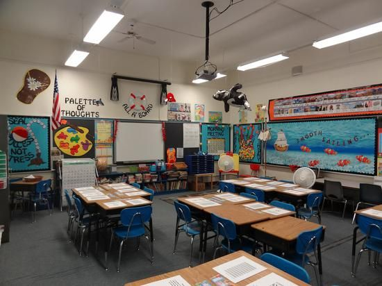 Classroom Decoration Ideas Elementary : Ocean themed elementary classroom decorating ideas