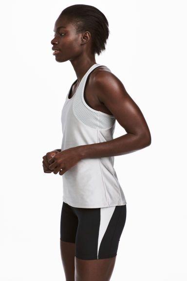 Running vest top - Silver - Ladies | H&M GB 1
