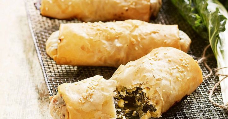 Serve up a tasty snack with these crisp silverbeet and feta pies.