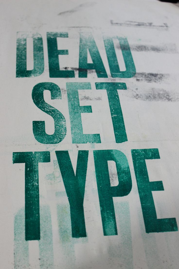 Letterpress design. Note the uneven application of ink from the pressure of the press.