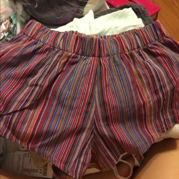 Brandy Melville Shorts - Brandy Melville boho striped shorts