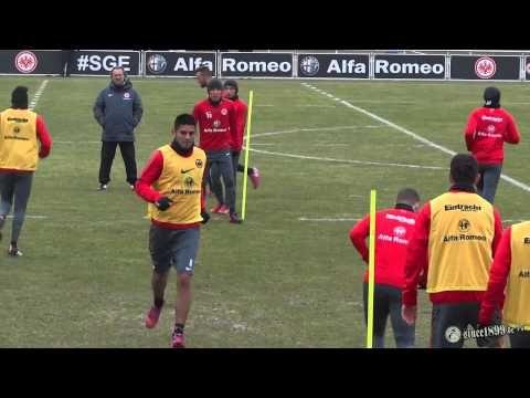 Eintracht Frankfurt Training Feb. 2015 - YouTube